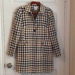 Worthington Houndstooth coat